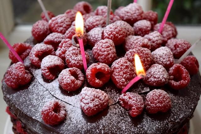 Chocolate Ganache Raspberry Crunch Cake