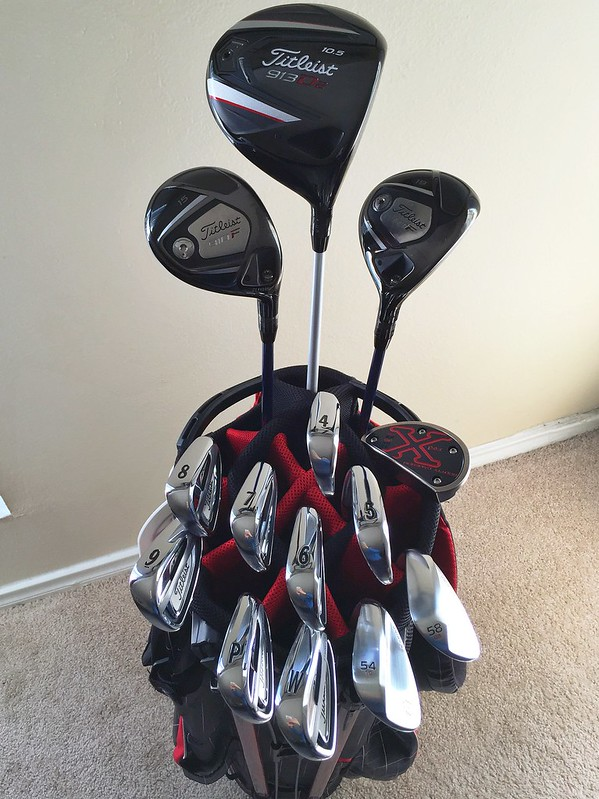 Golf Club Arrangement In Cart Bag Golf Cart Golf Cart