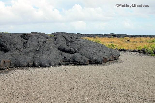 lava on road