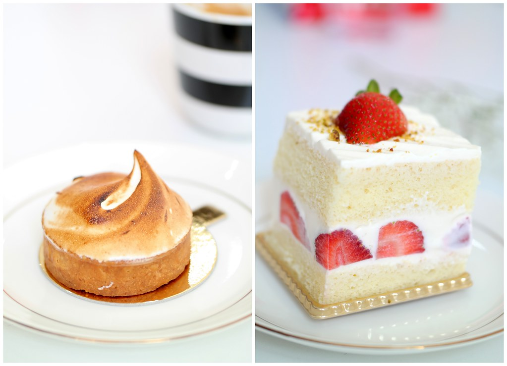Boufe Boutique Cafe's Citron Tart & Strawberry Shortcake