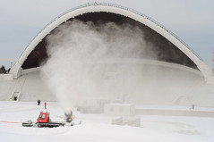 Snow cannon on The Tallinn Song Festival Grounds