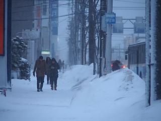 Snowstorm in Sapporo