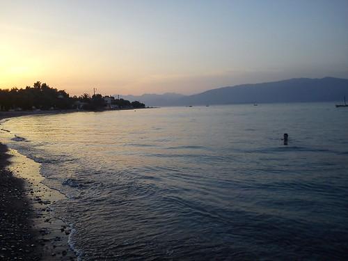 sea swimming sunrise greece achaia αίγιο sonyericssone10i διγελιώτικα