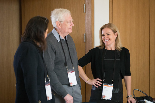 John Stevens and Renee Kaplan at Giving Pledge, Skoll World Forum 2014, Saïd Business School, Oxford - skollwf 2014