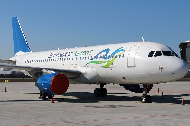 A.320-214 C.n 0883 'XU-708' Sky Angkor Airlines