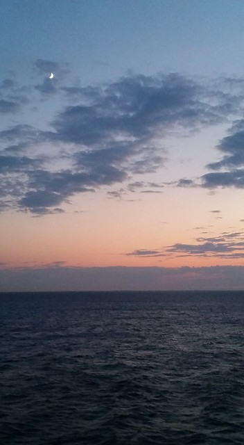 A lovely sunset on the Baltic Sea