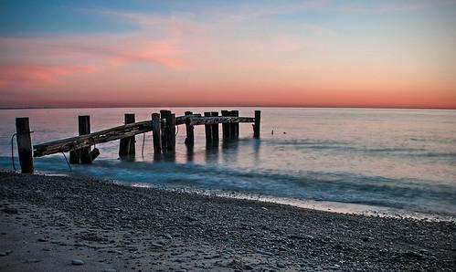 sunset sky ontario beach water sunrise pier dock nikon harbour greatlakes shore lakeontario grimsby gloaming d300 50point nikon18200mmvriiafs