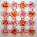 T-Pink & Orange Glimmer by Linda Rotz Miller Quilts & Quilt Tops