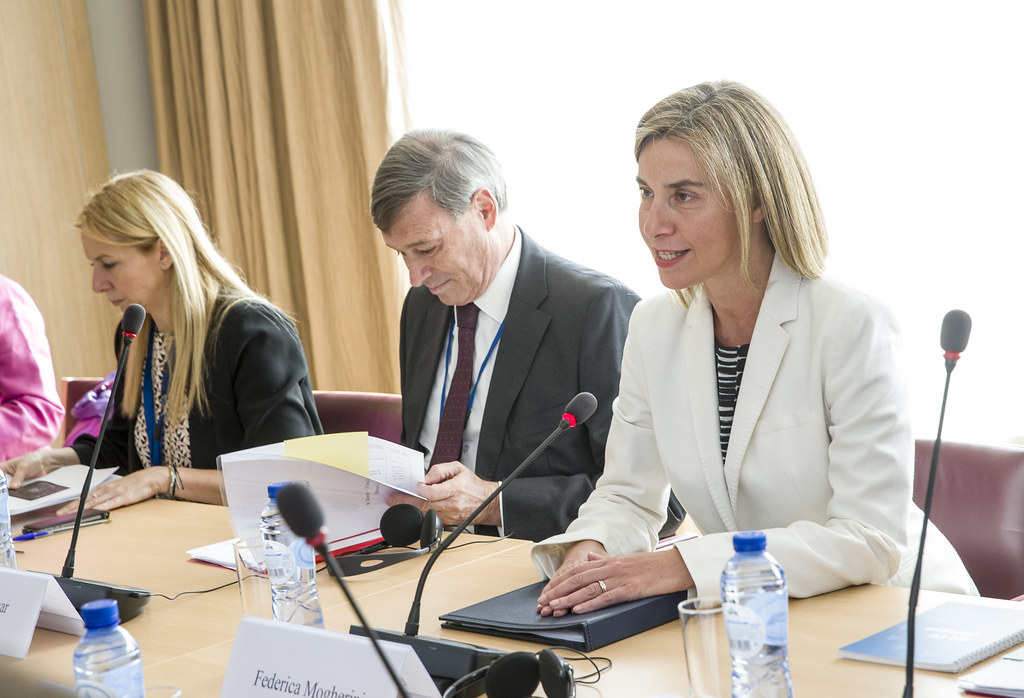 Federica Mogherini meets Jiechi Yang, State Councillor of the People's Republic of China