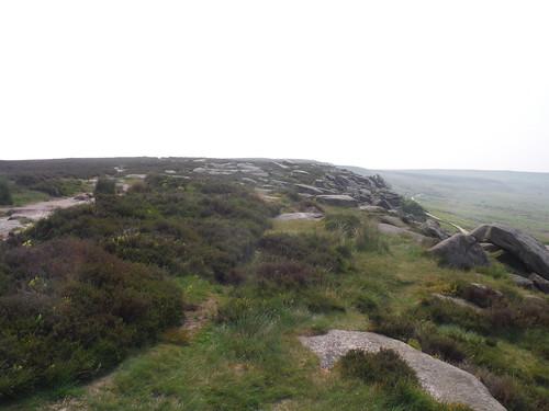 Backview along Burbage rocks