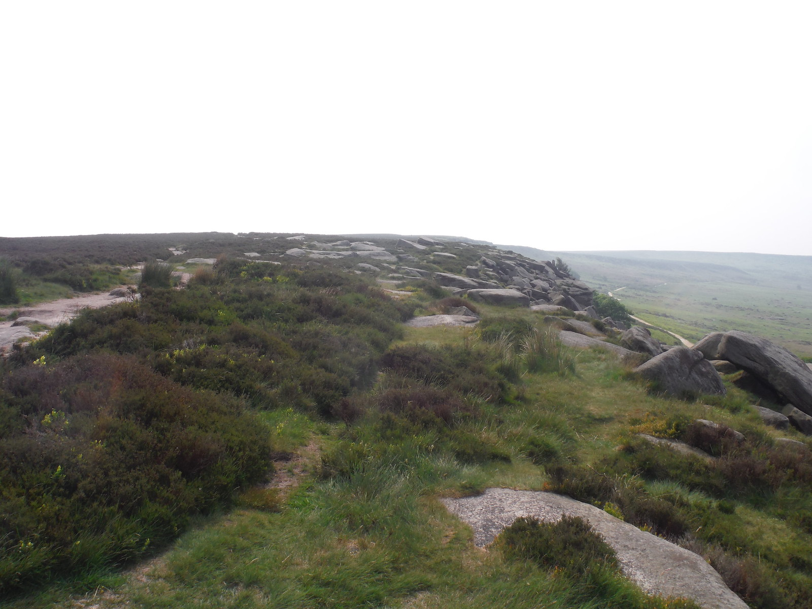 Backview along Burbage rocks SWC Walk 266 - Sheffield to Bamford (via Burbage Rocks and Stanage Edge) or to Moscar Lodge