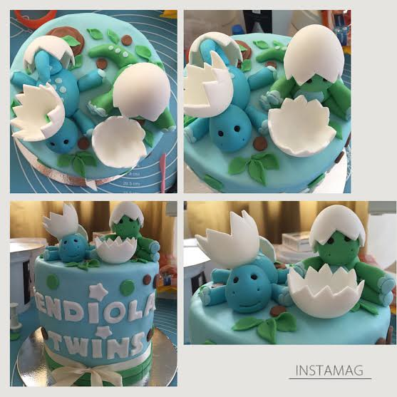 Playful Dino Twins by Vanessa Mendiola of The Party Mom