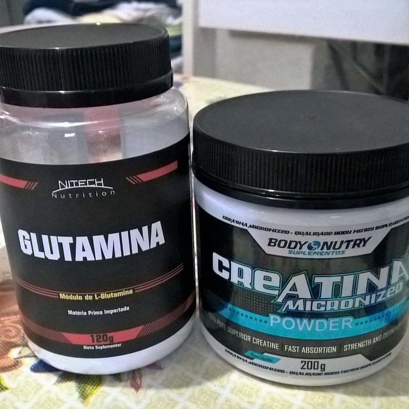 ajudinha basica no treino !!! ?? #suplementacao #creatina #glutamina #treino #dieta #letsgo