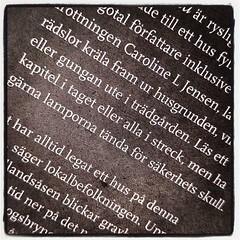 """Antologin """"På denna grund"""" börjar jag läsa nu. Men vad är det med streck och sträck egentligen? Börjar likna sett och sätt. Och mina språkögon fördunklas alltmer vartefter. Snart noterar jag det nog inte längre..."""