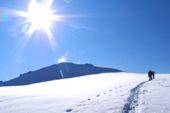 Morgenstimmung auf dem Gletscher. Foto: Günther Härter.