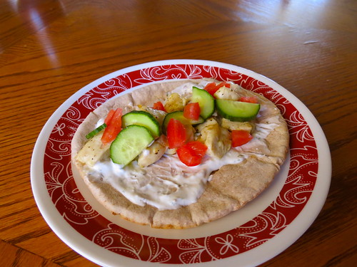 The Deen Brother's Marinated Chicken Gyro Wrap