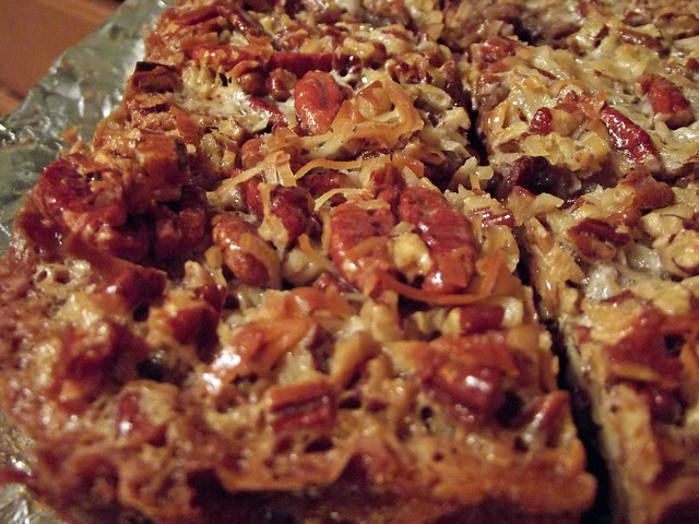 German Chocolate Pecan Pie Bars Using Cake Mix