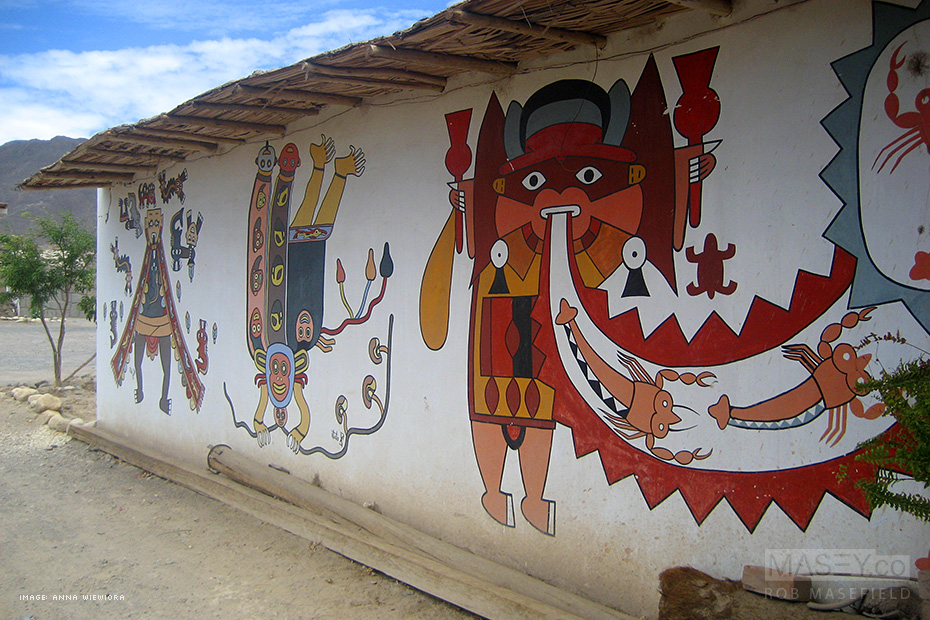 Colourful Peruvian art can be found everywhere along the tourist trail.