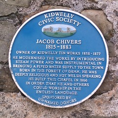 Photo of Jacob Chivers blue plaque