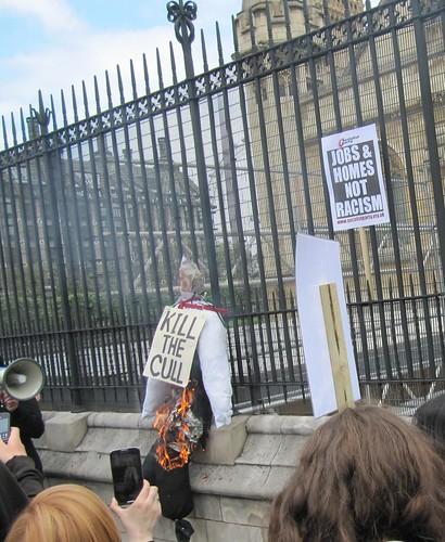 Badger burning effigy 3532
