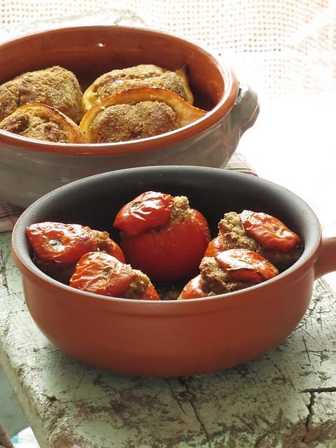 Pomodori e Limoni Farciti con Gamberetti e Tartufo