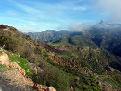 Gran Canaria - Roque Nublo As Seen from Roque Bentayga in the Winter