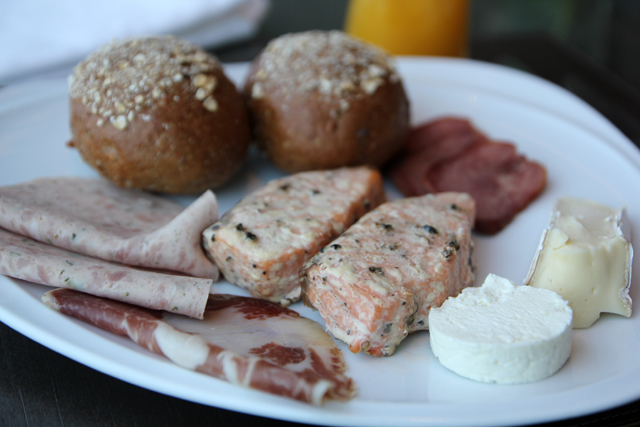 Cheeses, salmon, deli meats, bread