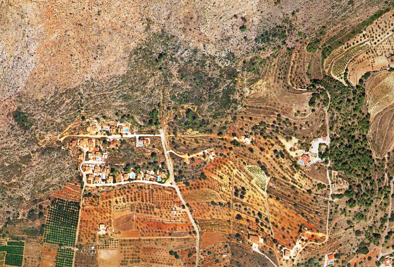 antes, urbanismo, foto aérea, desastre, urbanístico, planeamiento, urbano, construcción, Urbanización Valle Paraíso, Xaló, Jalón, Alacant, chalet, chalets Alicante