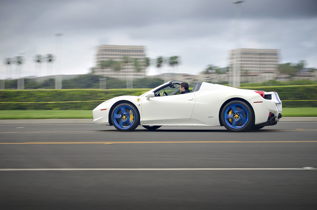 Custom White/Blue Ferrari 458 Italia Spider