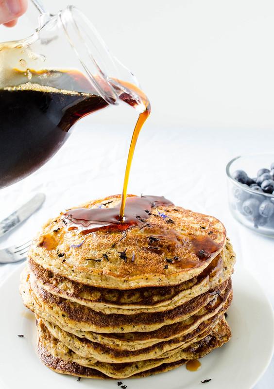 TARDIS Tea Pancakes (Blueberry Earl Grey Pancakes) – Gluten Free