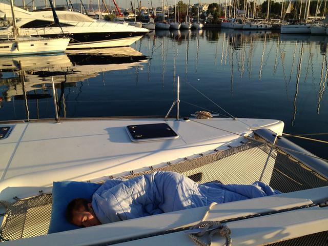 Matthew's preferred sleeping locale