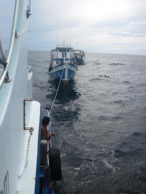 Sail Rock diving spot