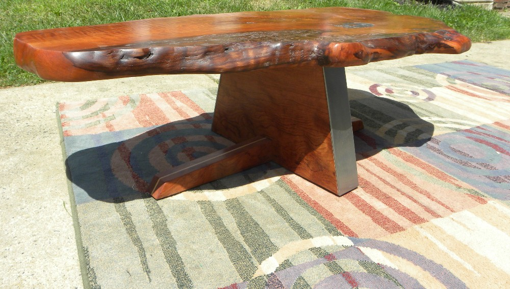 Details About COFFEE TABLE REDWOOD BURL GARRY ZAYON MID CENTURY MODERN