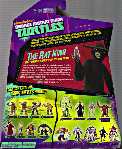 Nickelodeon  TEENAGE MUTANT NINJA TURTLES :: THE RAT KING ..card backer (( 2013 ))