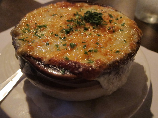 Dunellen Hotel's triple onion soup