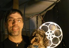 Barry Norman, Owner of Eveningstar Cinema and His Dog Scooter