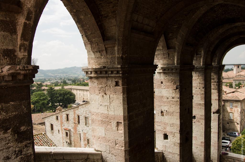 Italy, Stone Arches in Gubbio