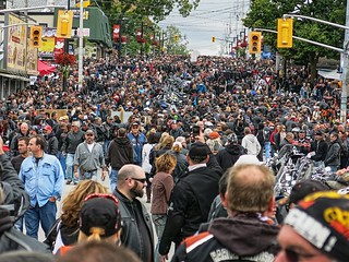 Port Dover Ontario, Friday 13th, 50 thousand +