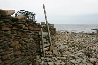 North Ronaldasy stone wall