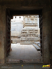 Main entrance of wooden doors to Lepakshi Veerabhadra Swamy Temple Complex at Lepakshi, in Andhra Pradesh, India