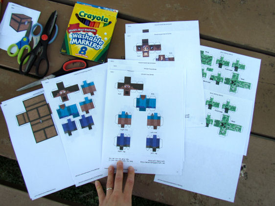 Minecraft Paper Crafts
