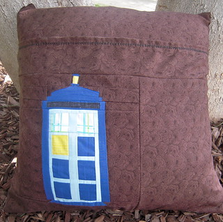 Back of Dr. Who pillow