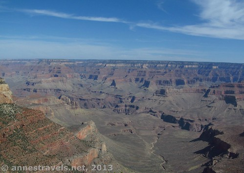 Part of the view from Shoshone Point, Grand Canyon National Park, Arizona