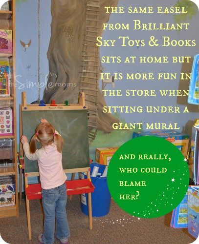 Brilliant Sky Toys and Books easel and mural