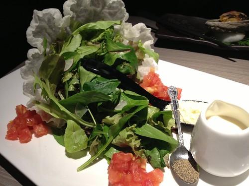 ガーデンサラダのチーズたっぷりサラダ@水想