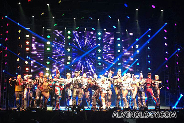 Dazzling cast of Starlight Express on the equally dazzling stage