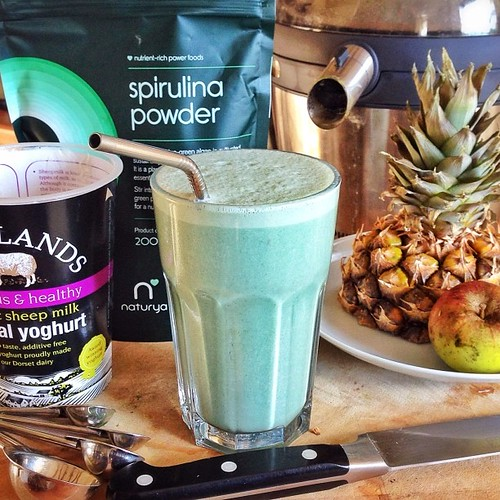 So it seems spirulina makes smoothies look like something out of Ten Forward. This is cool to me. #trekkie