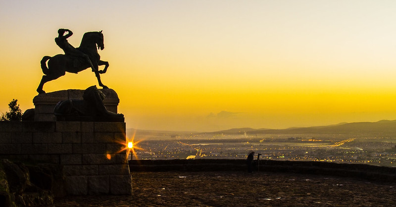 Rhodes Memorial at sunrise