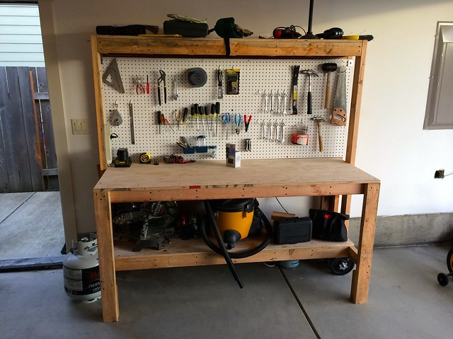 photo of workbench - How To Build A Garage Workbench
