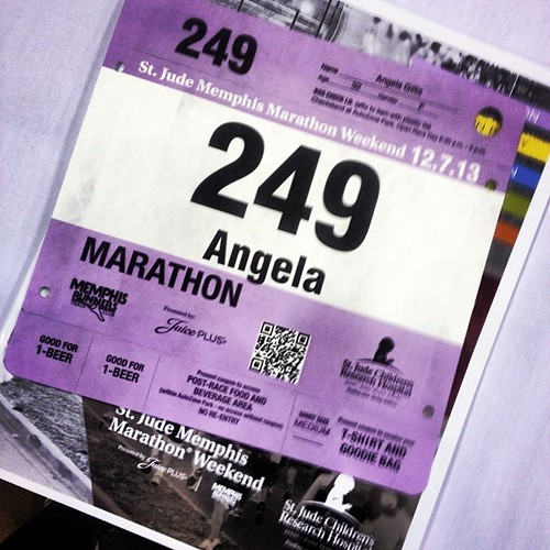 I started crying when I picked up my bib! I am so ready to rock my first #marathon! #sjmmw #stjudeheroes